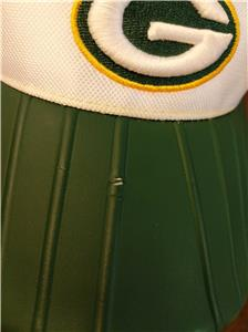 5aa06fa7dfd New Green Bay Packers Adult Mens OSFA Reebok White Green Golf Visor Hat.  Click images to enlarge