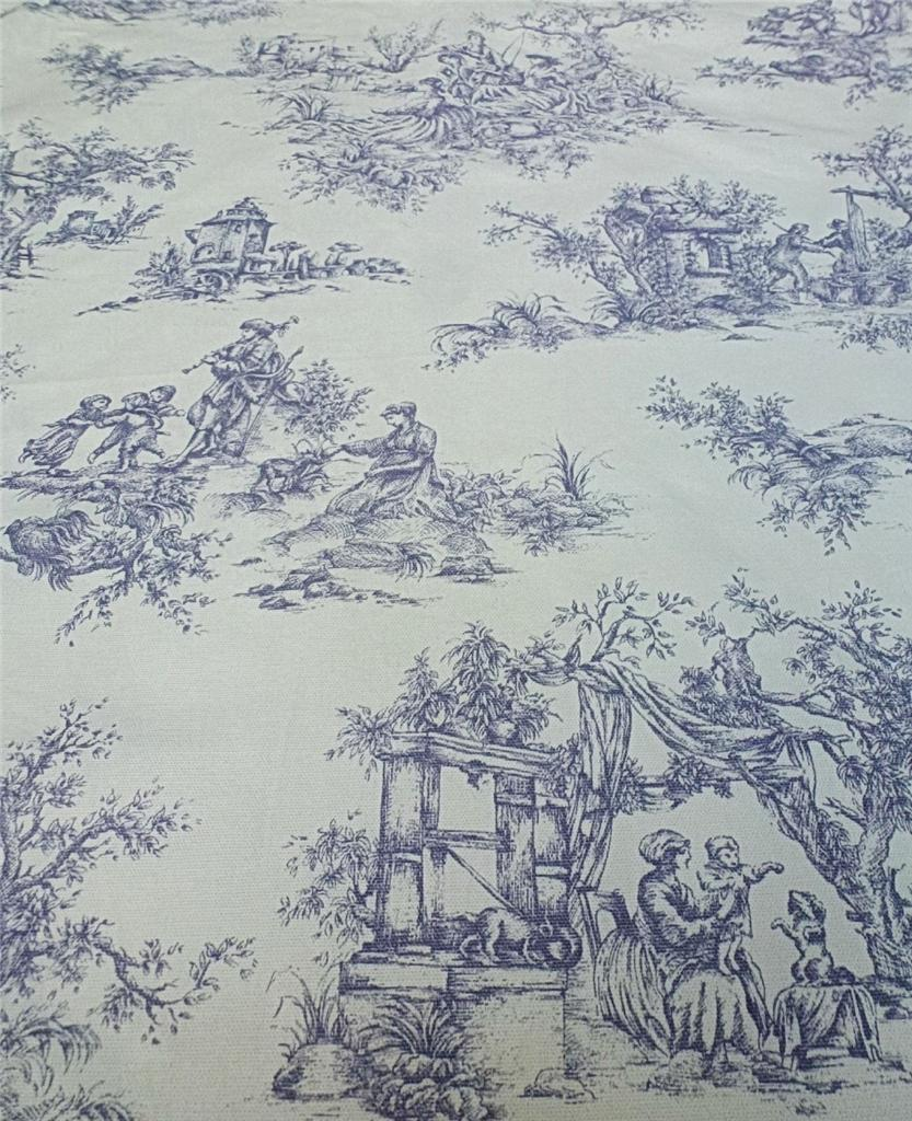 Beautiful Toile To Jouy Lavender Roman Blind Made To