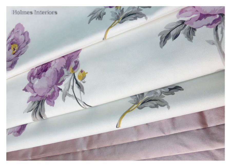 Laura Ashley Peony Blossom Fabric Roman Blinds And