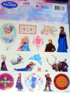 50 Disney Frozen Anna Elsa Temporary Tattoos Favors Party