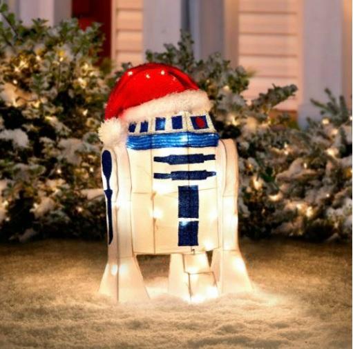 24 lighted pre lit star wars r2d2 christmas outdoor yard. Black Bedroom Furniture Sets. Home Design Ideas