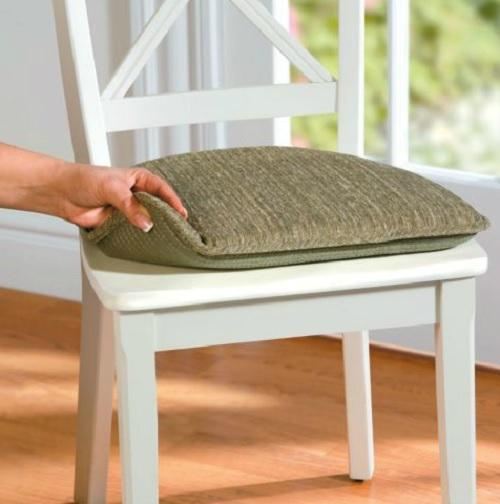 Chair Cushions For Kitchen Chairs: SET OF 2 Indoor DINING KITCHEN NON SLIP CHAIR CUSHION PAD