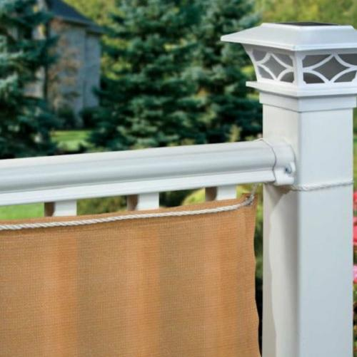 35x16 Outdoor Deck Patio Fence PRIVACY FABRIC SCREEN ...