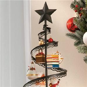 "89"" Metal Christmas Ornament Display Tree Indoor Holiday ..."