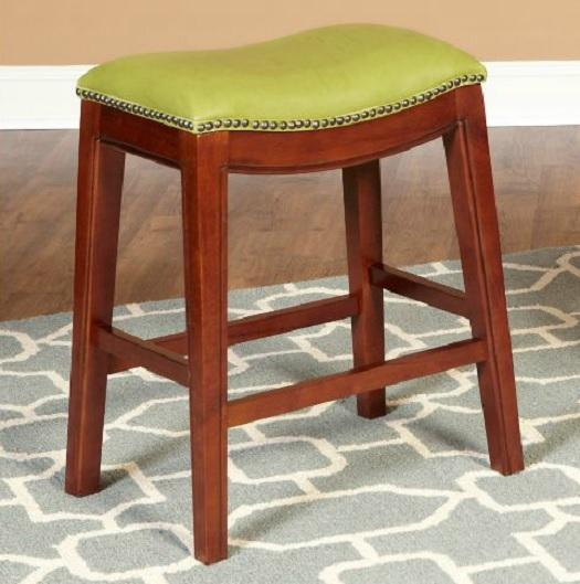 24 Quot Faux Leather Nailhead Saddle Style Bar Counter Stools