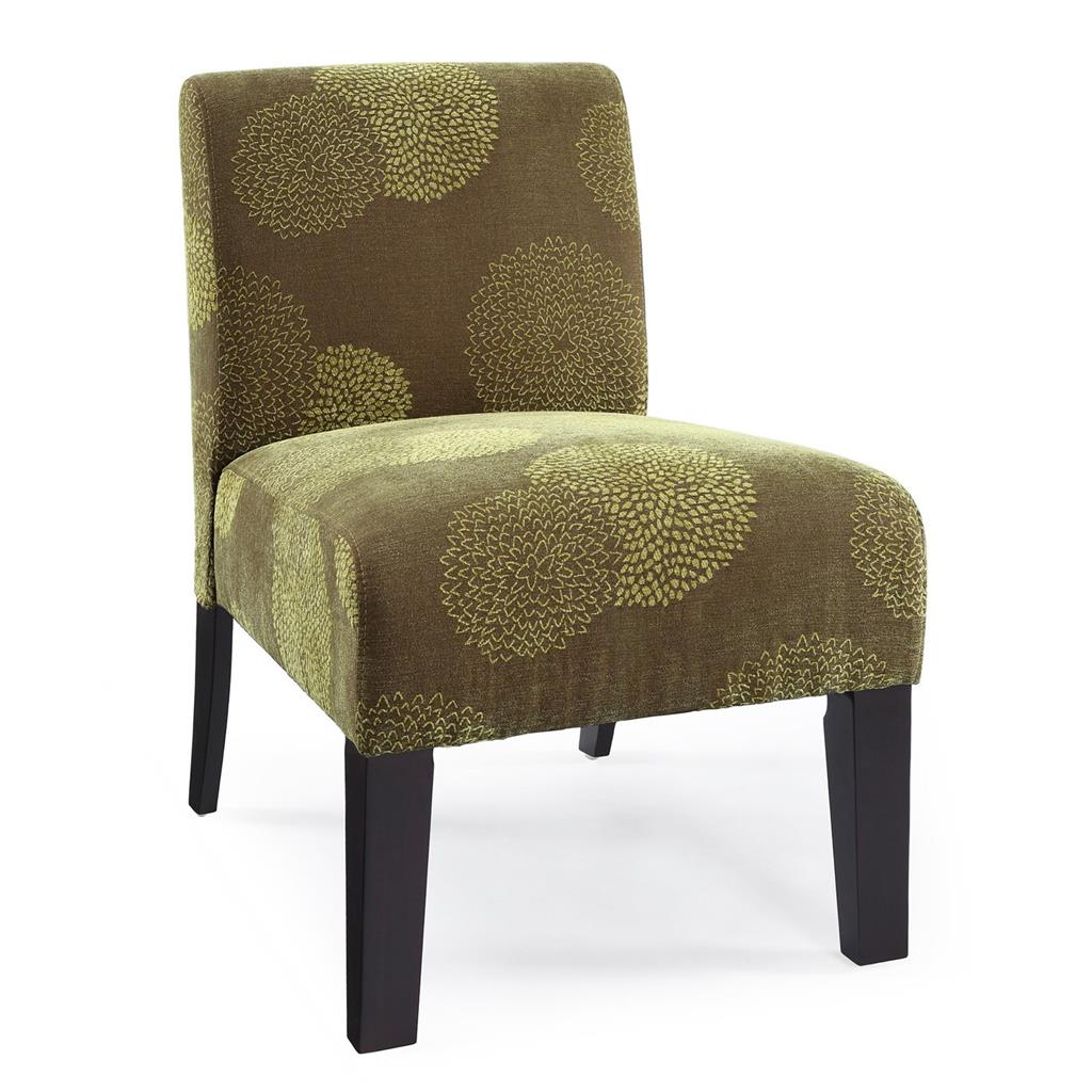 Designer Accent Chairs: MODERN CONTEMPORARY ARMLESS UPHOLSTERED FLORAL ACCENT