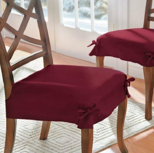 Dining Room Table Cover Pads: SET OF 2 ADJUSTABLE MICROSUEDE DINING CHAIR COVERS SEAT