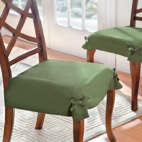 Set Of 2 Adjustable Microsuede Dining Chair Covers Seat Slipcover Table Linens Ebay