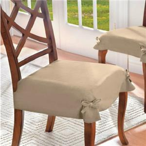 SET OF 2 ADJUSTABLE MICROSUEDE DINING CHAIR COVERS SEAT ...