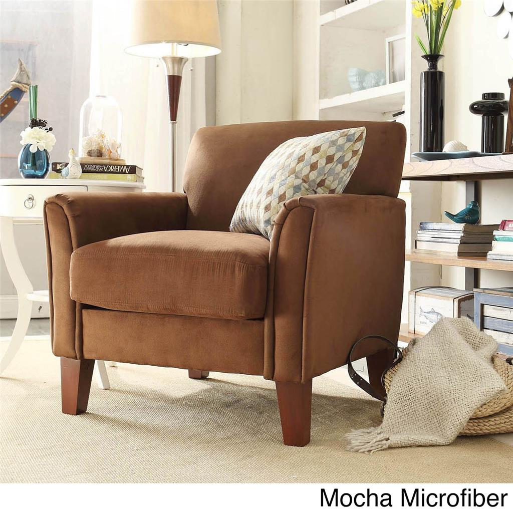 Modern living contemporary comfy upholstered arm chair - Modern upholstered living room chairs ...