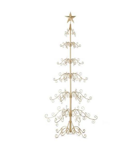 METAL CHRISTMAS STAR DISPLAY ORNAMENT TREE HOLIDAY DECOR ...