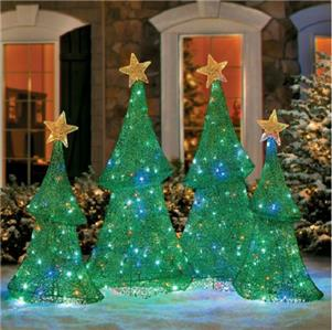 Sale 2pc Led Lighted Pre Lit Light Show Christmas Trees