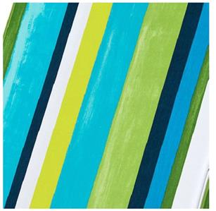 Premium box edge outdoor chaise lounge cushion blue green for Blue and white striped chaise lounge cushions