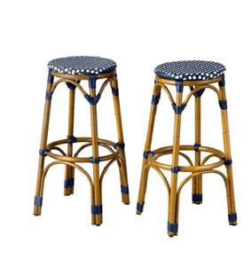 Sale Set Of 2 Resin Wicker Faux Bamboo Outdoor Bar Stools