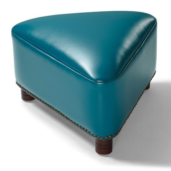 Textured Bonded Leather Modern Artistic Triangle Footstool