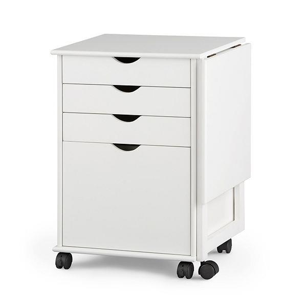 home office rolling portable storage filing cabinet with computer desk extension ebay. Black Bedroom Furniture Sets. Home Design Ideas