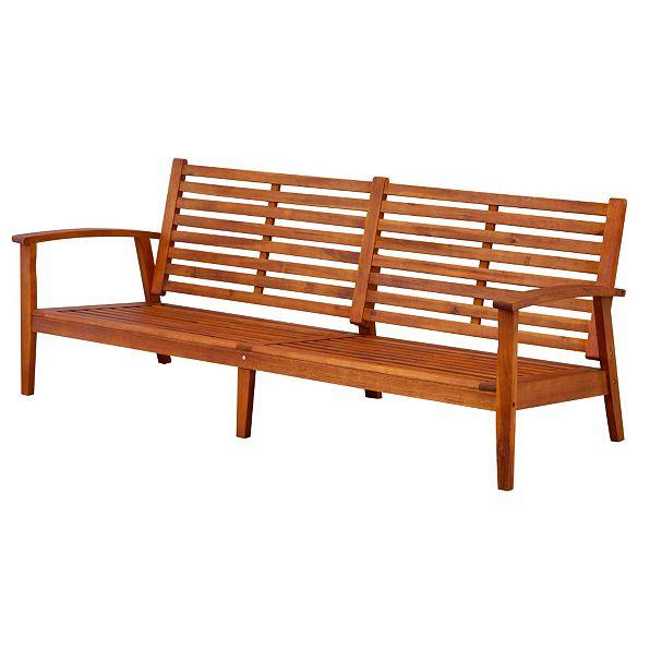 Outdoor Eucalyptus Hard Wood Large Sofa Couch Settee Deep