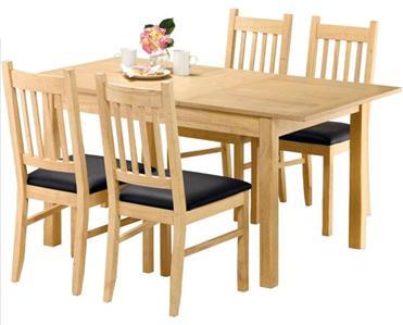 New Cucina Light Oak Extending Dining Table Amp 4 Chairs Ebay