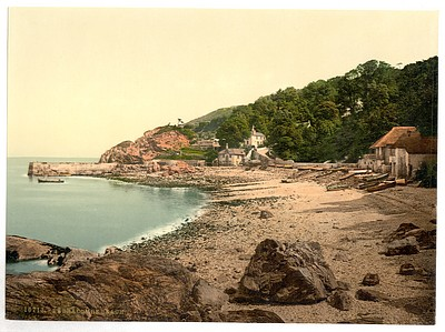 6 Old Photos Torquay /& Paignton Babbacombe Beach Ansteys Cove Pictures Set NEW