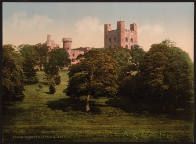 4 Photos Bangor Cathedral Penrhyn Castle Menai Straits Vintage Old Pictures NEW