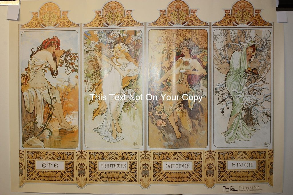 Chocolat Masson Spring Alphonse Mucha Reproduction Art Nouveau Poster Print NEW