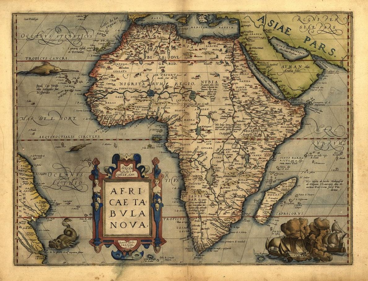 Abraham Ortelius Africa New Reproduction Antique Old Large Color