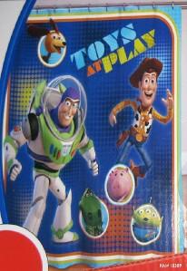 DISNEY PIXAR TOY STORY SHOWER CURTAIN Fabric Buzz Lightyear Woody Kids