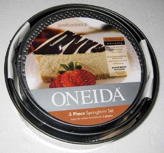 New Oneida 3 Piece Springform Pan Set Round Cheesecake
