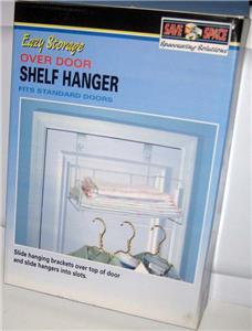 New Over The Door Shelf Hanger Clothes Towel Storage Ebay