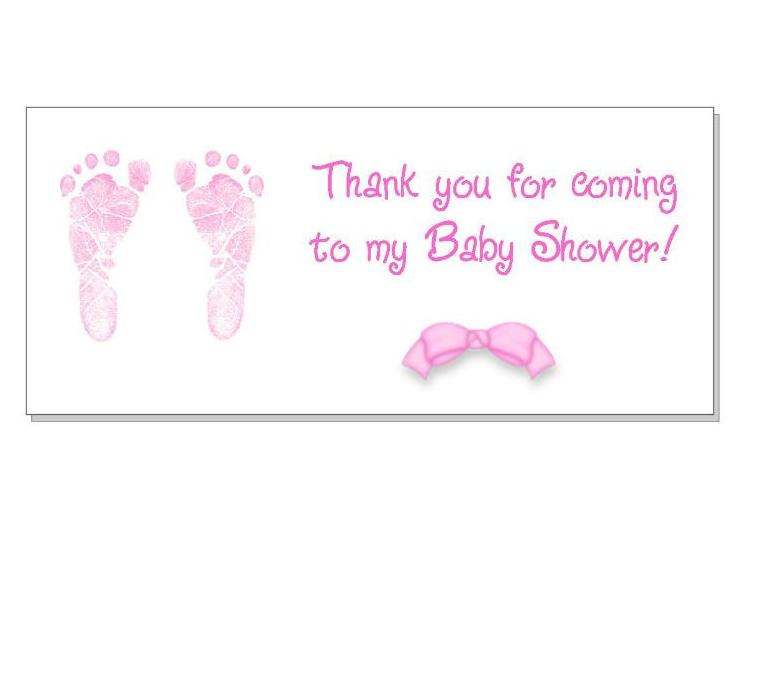 40 Baby Shower Thank You Favor Stickers Labels