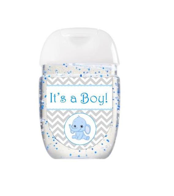 Baby Shower Hand Sanitizer Labels