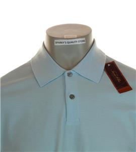 New Men/'s Tasso Elba Mercerized Pima Cotton Polo Shirt Small Large Green