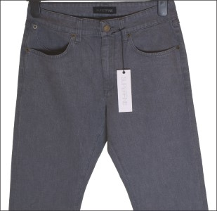 """BNWT MEN/'S SUPERFINE CHASE BUCKLE JEANS W31/"""" L34 RRP£145 SLATE BLUE NEW"""