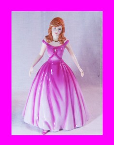 Royal Doulton Figurine Pretty Lady ~AFFECTION Breast Cancer CHARITY HN 5083 New