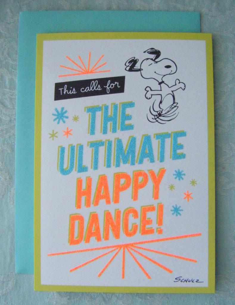 Peanuts Snoopy Happy Birthday Greeting Card by Hallmark New #1