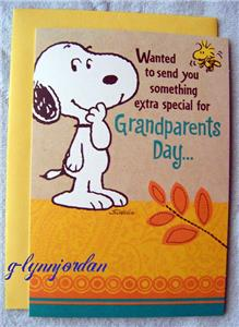 Peanuts snoopy grandparents greeting card by hallmark new peanuts snoopy grandparents greeting card by hallmark new m4hsunfo