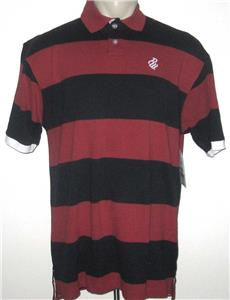 New 4xl Rocawear Mens Polo Shirt Red Navy Blue Striped Short Sleeve 4xb 4x Easy To Use Men's Clothing