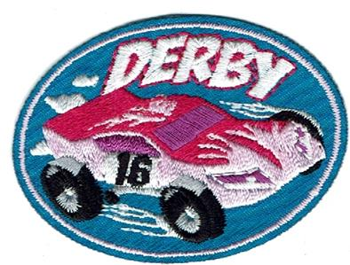 Boy Cub Derby PINEWOOD RACER 2020 Car track Fun Patch Crests Badges SCOUT GUIDE