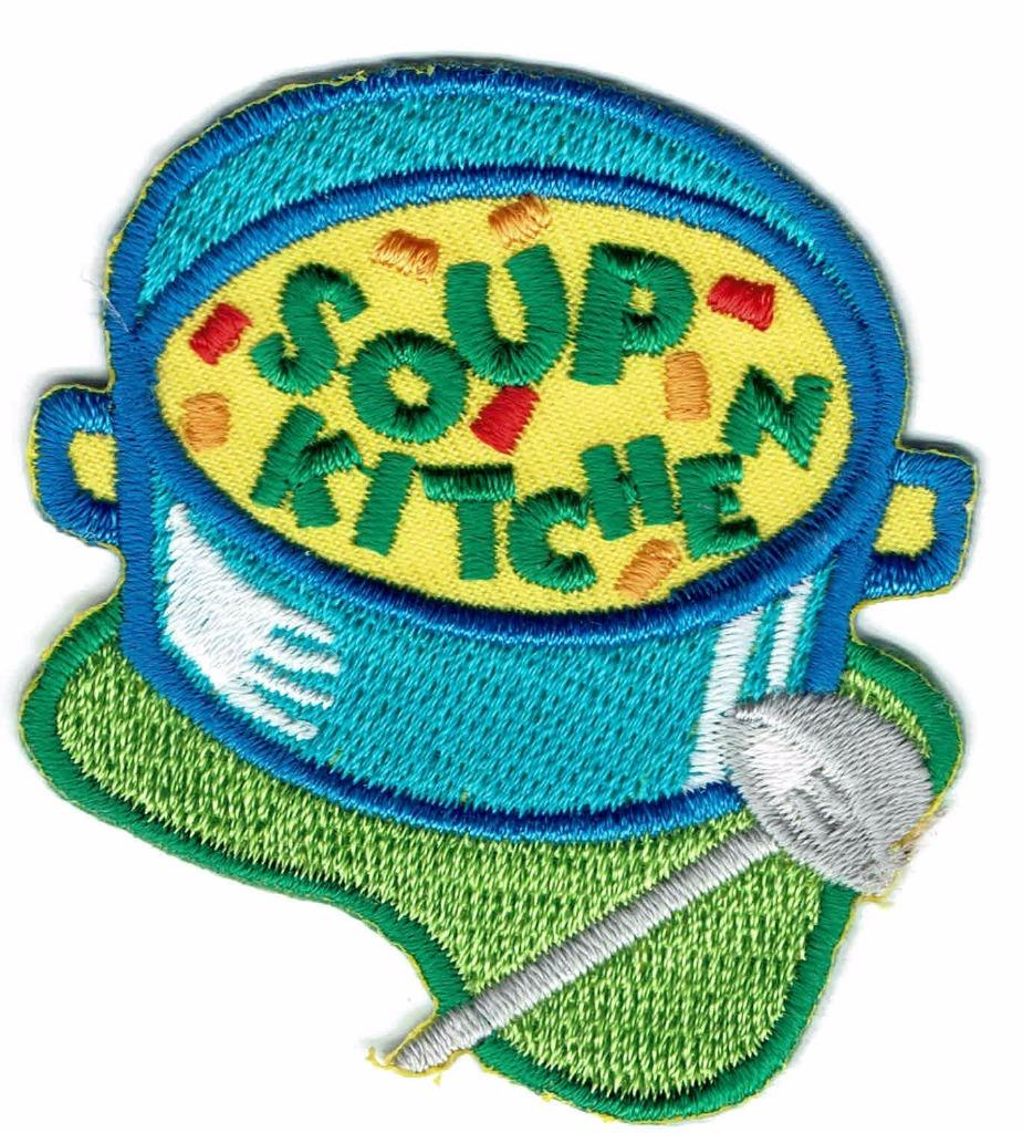 Girl Boy Cub SOUP KITCHEN Homeless Patches Crests Badges SCOUTS ...
