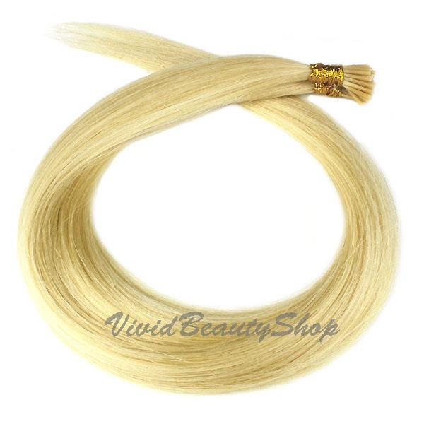 200 Stick I Glue Tip Pre Bond Shoelace Micro Ring Remy Human Hair
