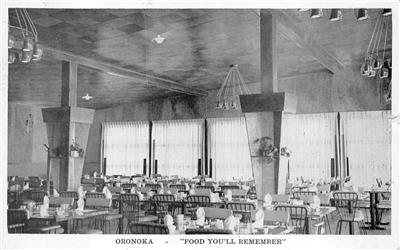 Details About Rppc Oronoka Restaurant Bangor Orono Maine Real Photo Postcard 1950s