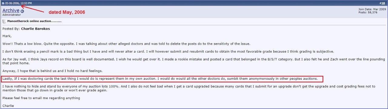 Charlie Barokas Mercer Island Wa Ebay Manontherock Is A Card Trimmer Psa Graded Blowout Cards Forums