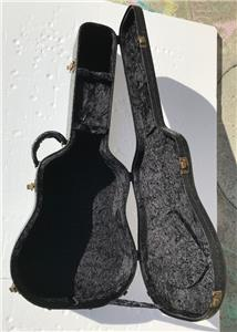 c521f66f8f9 Luna Guitars Deadnought / Grand Concert Black Tooled Leather Acoustic Hard  Case Luna's acoustic hardshell case features a handsome tooled leather look  with ...