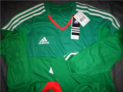 37dcbdfa4e06d ADIDAS MEXICO COLORS SOCCER ADIZERO GOOL KEEPER L S SHIRT MEN NWT ...