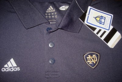 Adidas Notre Dame Fighting Irish Coaches Polo Shirt L