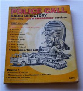Details about 5 VTG RS POLICE CALL RADIO FREQS INCLG FIRE & EMS VOL 1 CT ME  MA NH NY RI & VT