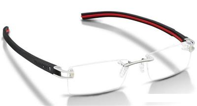 9fd92eef55c Tag Heuer TH 7641 002 Track Black   Red Rimless Glasses Eyeglasses Frames  52mm