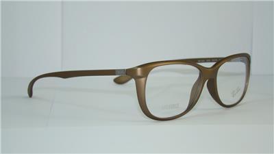 011386dbac Ray Ban RB 7024 5205 Matte Gold Brown LITEFORCE Eyeglasses Frames Size 54