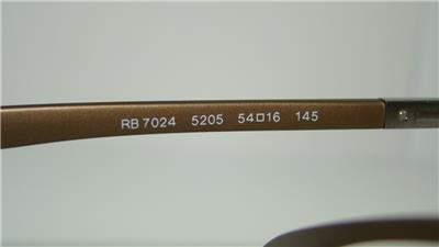 2a34d7706f Ray Ban RB 7024 5205 Matte Gold Brown LITEFORCE Eyeglasses Frames ...