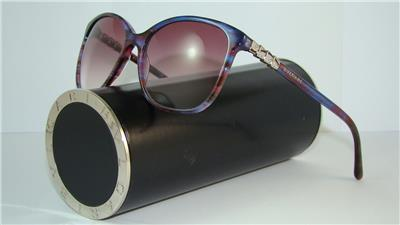 BVLGARI SERPENTI BV 8152 B 5339 8H BLUE RED FANTASY GREY Sunglasses Size 56